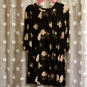 LUSH Babydoll Rib Knit Floral Dress size S